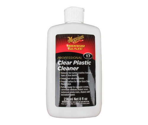 Meguiar's M1708 Mirror Glaze® #17 Clear Cleaner Plastic - 8 oz Bottle