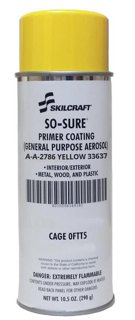 Skilcraft® 0784-331 SO SURE® FS#33637 Yellow A-A-2786 General-Purpose Primer Coating - 11.5 oz Aerosol Can