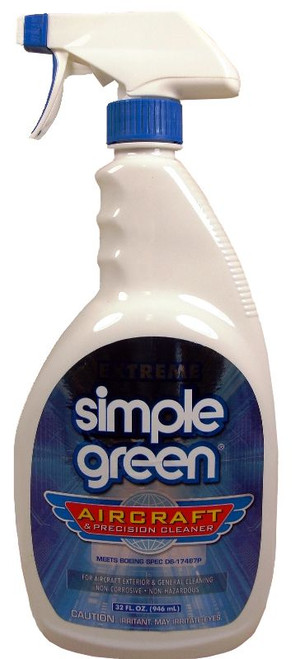 Extreme Simple Green® 13412 Aircraft & Precision Cleaner - 32 oz Trigger-Spray Bottle