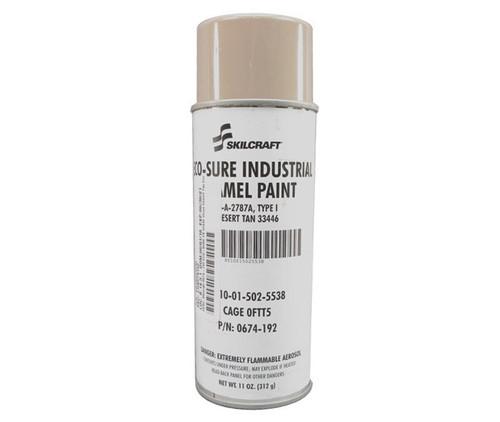Skilcraft® 0674-192 ECO SURE® FS 33446 Gloss Desert Tan A-A-2787A Type I Spec Industrial Enamel Paint - 11 oz Aerosol Can