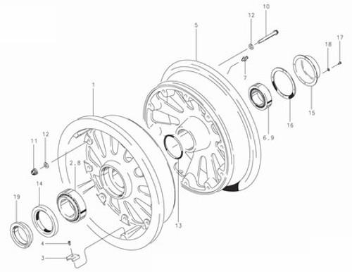 Cleveland Wheel & Brake 40-174 Wheel Assembly