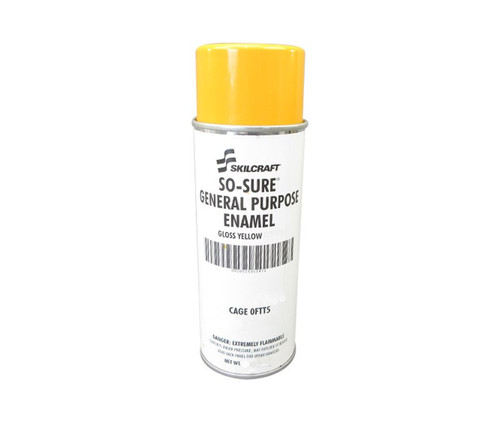 Skilcraft® 01D4-130 SO SURE® FS 13538 Gloss Yellow General-Purpose Enamel Paint - 10 oz Aerosol Can