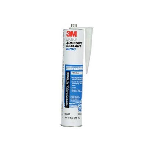 3M™ 638060-09499 White 5200 Fast Cure Marine Adhesive Sealant - 295 mL Cartridge