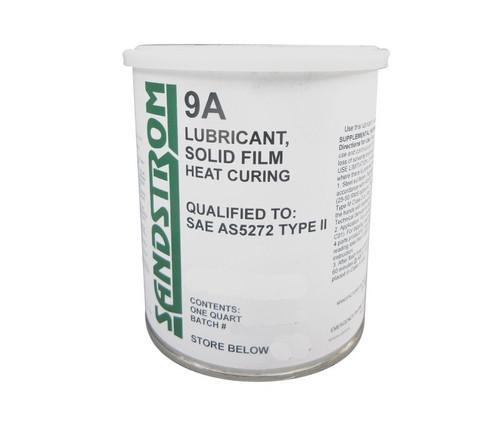 Sandstrom 9A Flat Dark Gray AS5272 Type II Spec Heat Cure Solid Film Lubricant - Quart Can