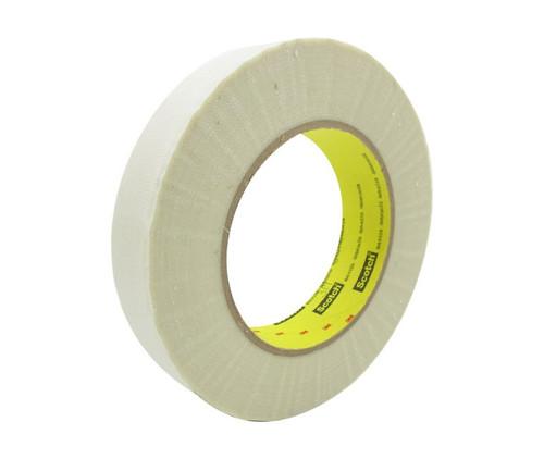 "3M™ 021200-03017 Scotch® 361 White 7.5 Mil Glass Cloth Tape - 1"" x 60 Yard Roll"
