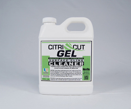 Nuvite PC22991GL CitriCut Citrus-Based Biodegradable Heavy-Duty Gel Surface Cling Aircraft Degreaser - Gallon Jug