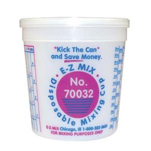 E-Z MIX 70032 Plastic 1-Quart Disposable Graduated Display Paint Mixing Cup - 100 Cup/Box