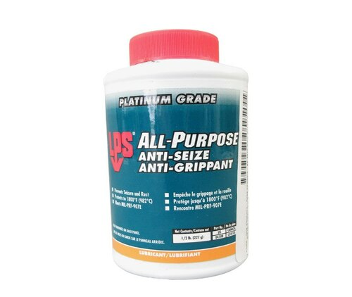 LPS® 04108 Dark Gray All-Purpose Moly-Fortified Anti-Seize Lubricant - 1/2 lb Brush-Top Jar