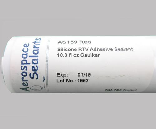Aerospace Sealants AS159 (FAA-PMA) Red Silicone Adhesive Sealant - 10.3 oz Cartridge