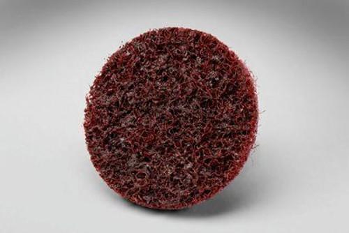 "3M™ 048011-13250 Scotch-Brite™ Roloc™ SC-DS Red 1-1/2"" A/O Medium TS Surface Conditioning Disc"