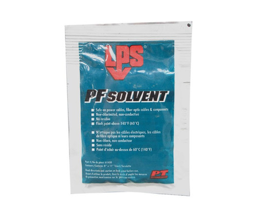 LPS® 61400 PF Solvent Clear/White Penetrating Degreaser - 1 Wipe Pack