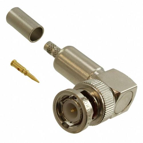 Amphenol RF 31-335-RFX Brass/Nickle BNC RG-58, RG-141 Right Angle Female Connector, Plug, Electrical