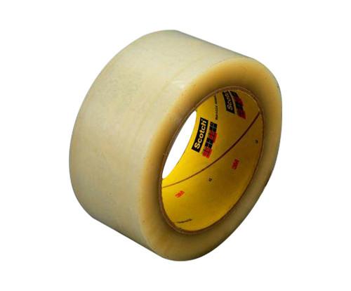 3M™ 021200-72330 Scotch® 355 Clear 3.4 Mil Box Sealing Tape - 48 mm x 50 m Roll