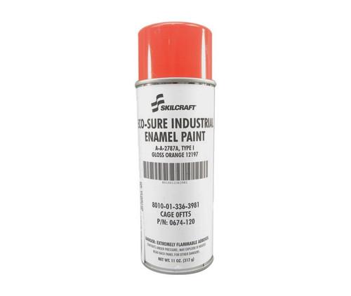 Skilcraft® 0674-120 ECO SURE® FS 12197 Gloss Orange A-A-2787A Type I Spec Industrial Enamel Paint - 11 oz Aerosol Can