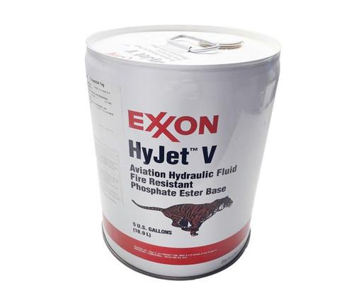 Exxon Mobil HyJet V Violet BMS 3-11P Type V, Grade A/C Spec Fire-Resistant Aviation Hydraulic Fluid - 5 Gallon Pail