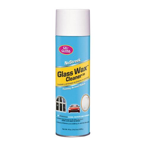 GEL-GLOSS® NS-019 NoStreek Glass Wax™ Cleaner 3D - 538 Gram (19 oz) Aerosol Can