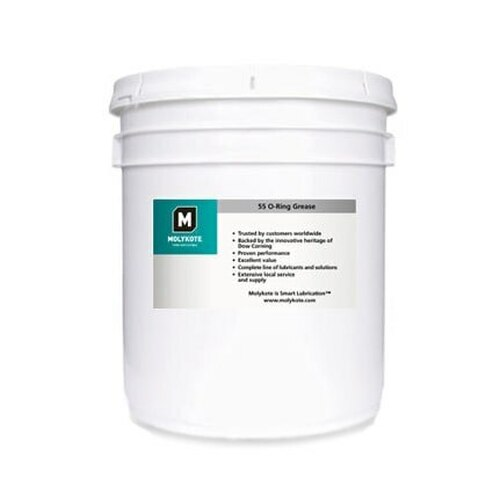 Dupont™ 4016068 MOLYKOTE® 55 White O-Ring Grease - 3.6 Kg (8 lb) Pail