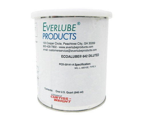 Everlube® Ecoalube® 642 Diluted Gray/Black MIL-L-46010E Type II Spec Thermally Cured Mos2 Solid Film Lubricant - Quart Can