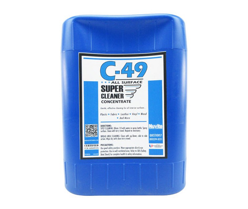 Nuvite PC20205GL C-49 Aircraft Interior All-Purpose Surfaces Super Cleaner - 5 Gallon Pail