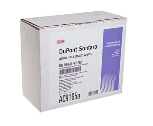 "Sontara® AC9165a White 9"" x 16.5"" Aerospace Grade Wipe - 100 Wipe/Pop-Up Box"
