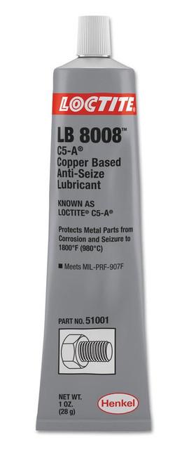 Henkel 51001 LOCTITE® LB 8008™ C5-A® Copper Based Anti-Seize Lubricant - 28 Gram (1 oz) Tube