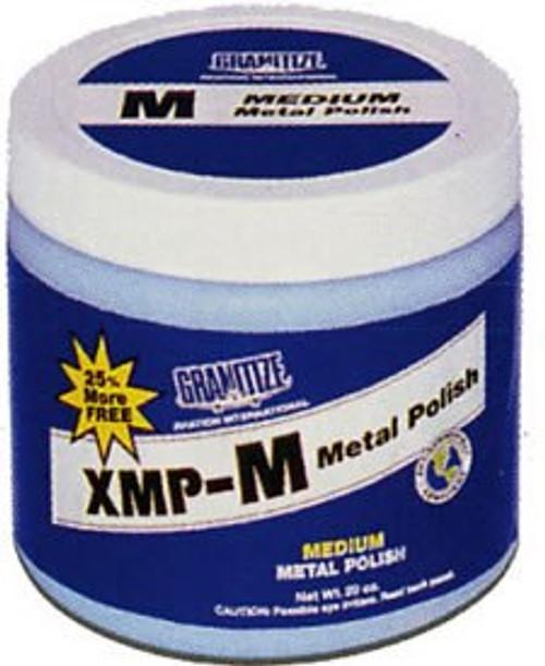 GRANITIZE™ Aviation XMP-M Aqua Medium Grade Light Scratch Metal Polish - 20 oz Plastic Jar