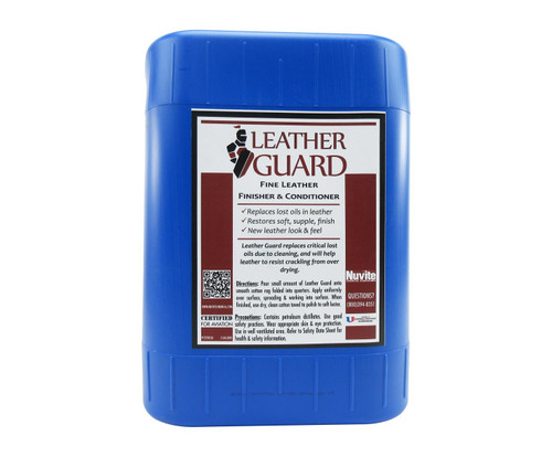 Nuvite PC22285GL Leather Guard Aircraft Fine Leather Conditioner, Cleaner & Finisher - 5 Gallon Pail