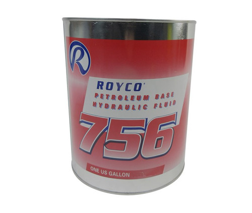 ROYCO® 756 Red MIL-PRF-5606H Amend. 3 Spec Mineral Oil Based Aircraft Hydraulic Fluid - Gallon Can