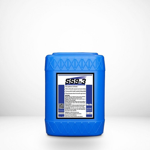 Nuvite PC21615GL SS 9-3 Biodegradable Aircraft Cleaner, Debugger, Wipedown Fluid & Wetwash Cleaner - 5 Gallon Pail