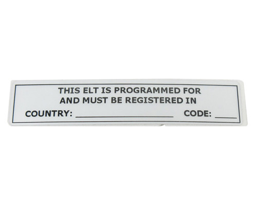 Artex 591-0429-01 Country & Country Code ELT Label
