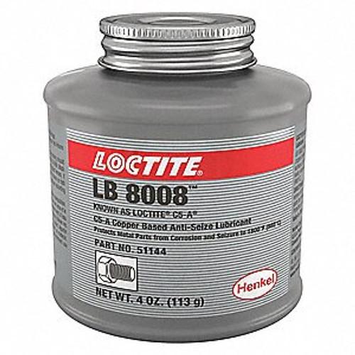 Henkel 51144 LOCTITE® LB 8008™ C5-A® Copper Based Anti-Seize Lubricant - 454 Gram (4 oz) Brush-Top Can