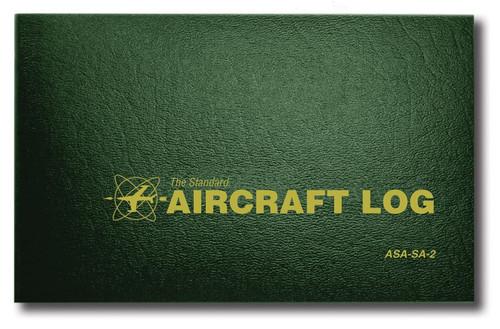 Aviation Supplies & Academics ASA-SA-2 Green The Standard™ Hard Cover Aircraft Logbook