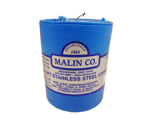 """Military Standard MS20995C40 Stainless Steel 0.040"""" Diameter Safety Wire - 1 lb Roll"""