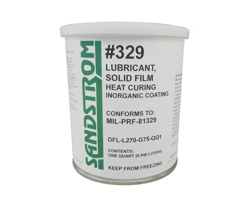 Sandstrom #329 Matte Gray MIL-PRF-81329 Spec Heat Cure Solid Film Lubricant - Quart Can