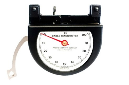 """Pacific Scientific T5-8002-211-00 Black Dial Indicating 1/16"""" to 1/8"""" & 35-350 lbs Cable Tensiometer"""