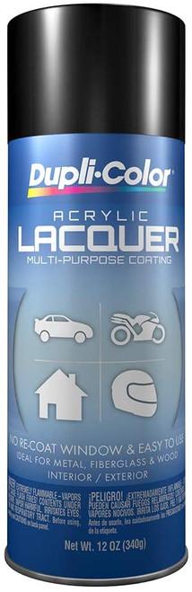 DUPLI-COLOR® DAL1677 Gloss Black Multi-Purpose Acrylic Lacquer Paint - 340 Gram (12 oz) Aerosol Can
