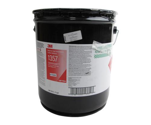 3M™ 021200-64963 Scotch-Weld™ 1357 Light-Yellow Neoprene High Performance Contact Adhesive - 18.9 Liter (5 Gallon) Pail