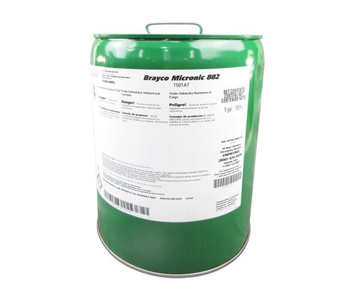 Castrol® Brayco™ Micronic 882 Red MIL-PRF-83282D (1) Spec Full Synthetic ISO 15 Hydraulic Fluid - 5 Gallon Steel Pail