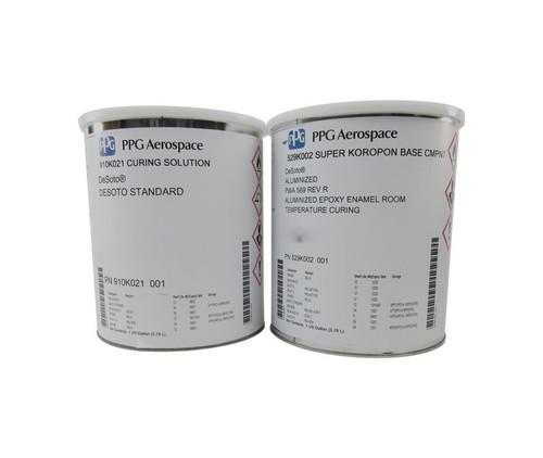 PPG Aerospace® DeSoto® 529K002 Aluminized DeSoto® Standard Spec High Temperature Epoxy Commercial Topcoat - Gallon Kit