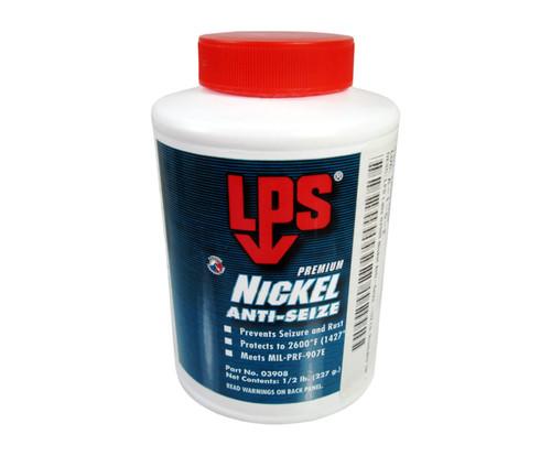 LPS® 03908 Silver/Gray Nickel Anti-Seize Paste - 1/2 lb Brush-Top Jar