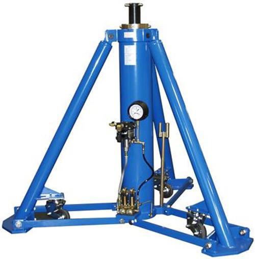 Tronair® 02A7850C0100 Blue Hydraulic Main Jacks with Air Pump (60 ton/54.4 metric ton) (CE)