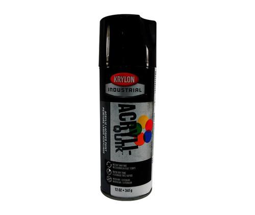 KRYLON® K01601 Industrial ACRYLI-QUIK™ Glossy Black Acrylic Lacquer Paint - 340 Gram (12 oz) Aerosol Can