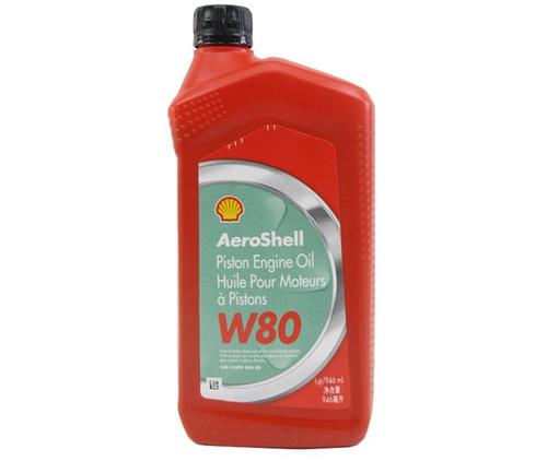 AeroShell™ Oil W80 SAE Grade 40 Ashless Dispersant Aircraft Piston Engine Oil - 946 mL (Quart) Bottle