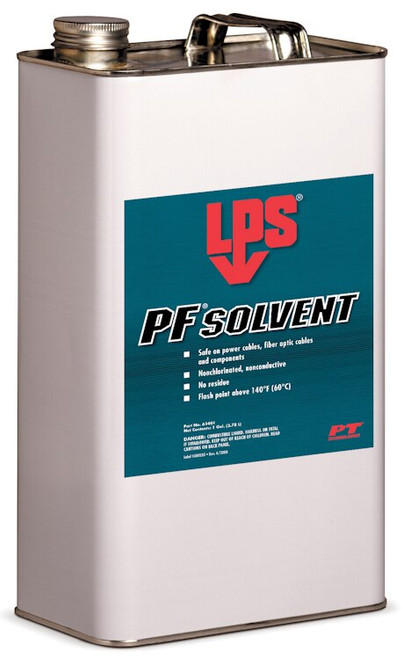 LPS® 61401 PF Solvent Clear/White Penetrating Degreaser - Gallon Steel Can