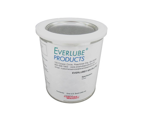 Everlube® 620 Diluted Gray/Black Standard Spec Thermally Cured MoS2/Graphite Based Solid Film Lubricant - Quart Can