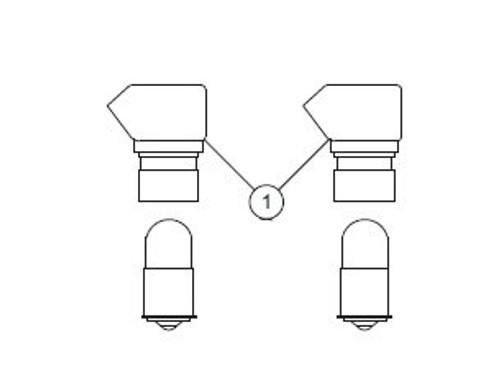 WHELEN® 02-0350281-03 Model A354CLBK Black Post Clear Post Light Head Assembly
