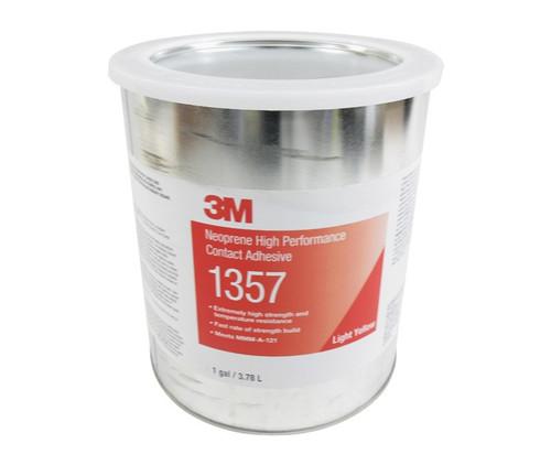 3M™ 021200-22586 Scotch-Weld™ 1357 Light Yellow Neoprene High Performance Contact Adhesive - 3.8 Liter (Gallon) Can