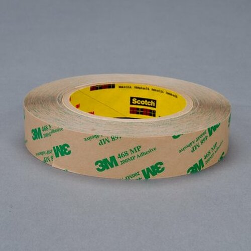 "3M™ 021200-19338 Scotch® 468MP Clear 5 Mil Adhesive Transfer Tape - 2"" x 60 Yard Roll"