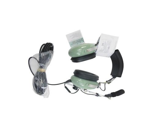 David Clark 12304G-02 Model H3331 Black 15' Straight Cord Pushback/Ramp Communication Wire Boom Headset