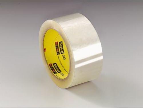 3M™ 021200-72368 Scotch® 373 Clear 2.5 Mil Box Sealing Tape - 48 mm x 50 m Roll